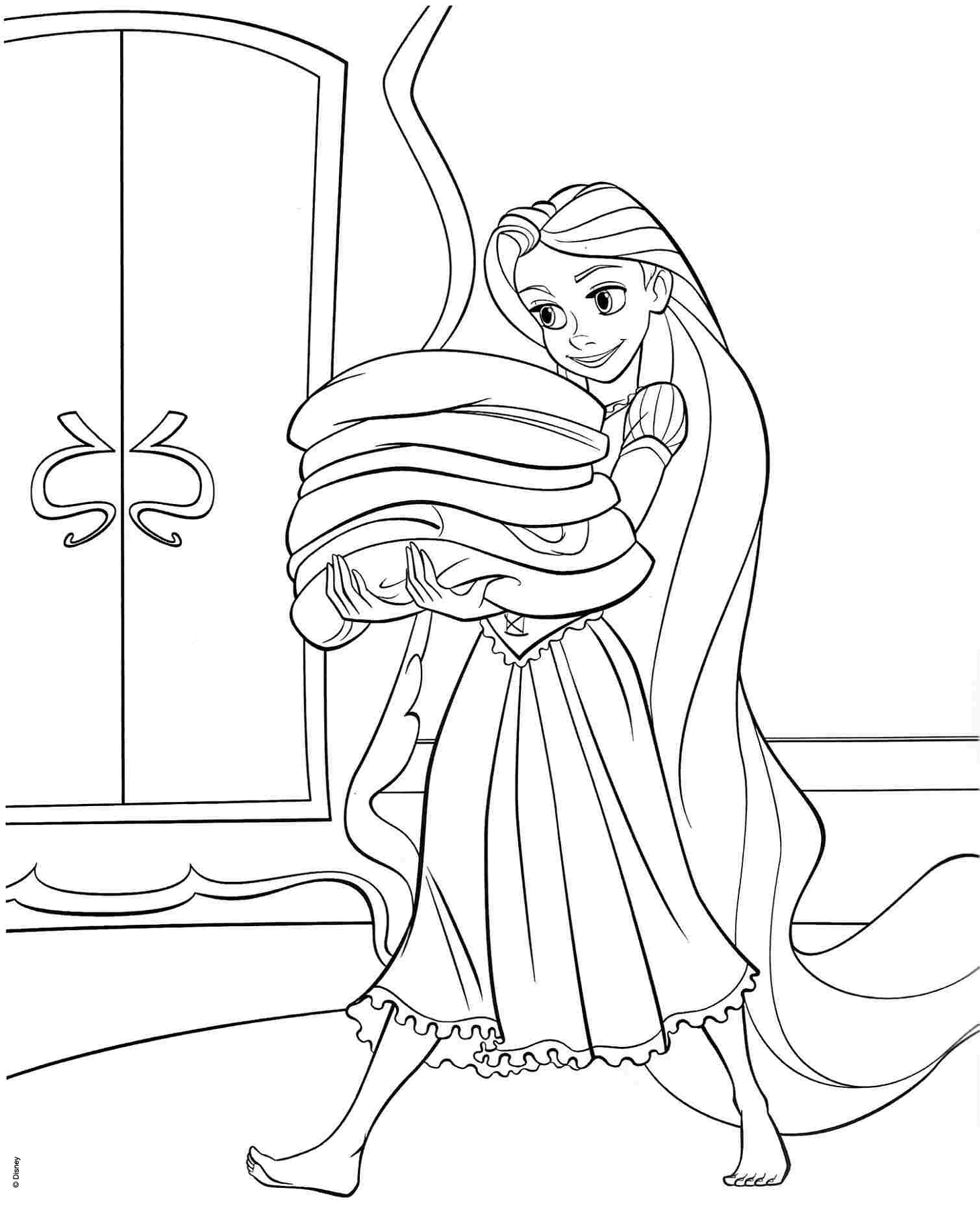 tangled printable coloring