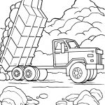Dump Truck Pictures for Kids - Coloring book