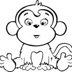 Coloring Pages of Monkeys - Coloring book
