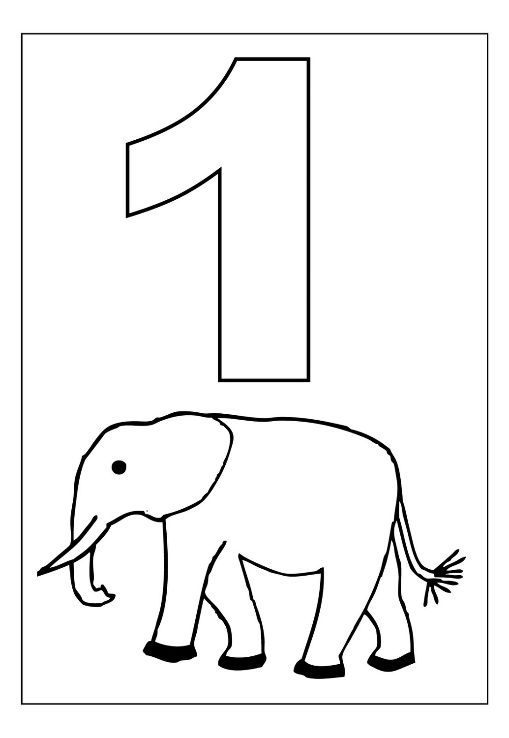 Picture of Number 1 - Coloring book