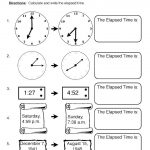 Time Elapsed Worksheets - Drawing