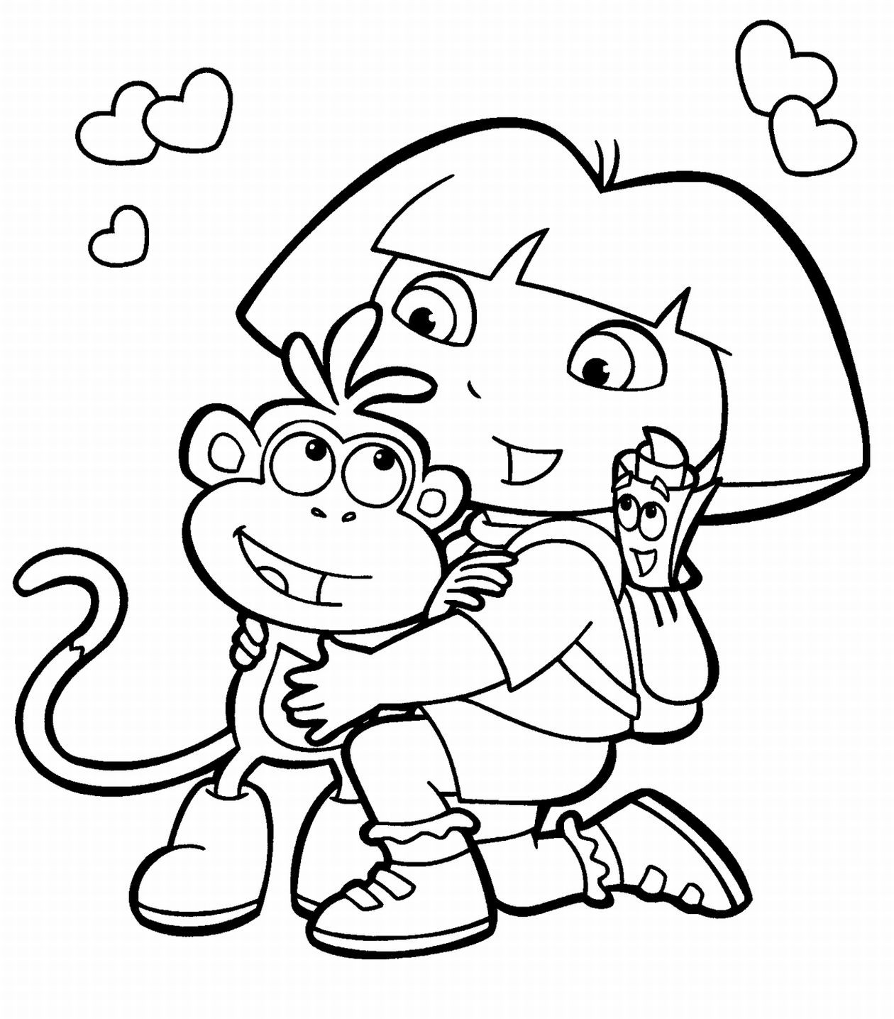 childrens coloring pages dora