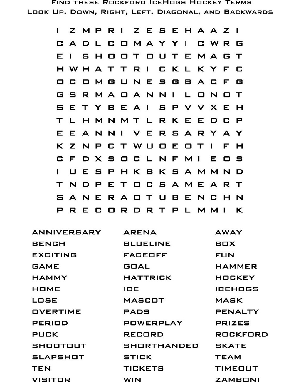fun word searches worksheet