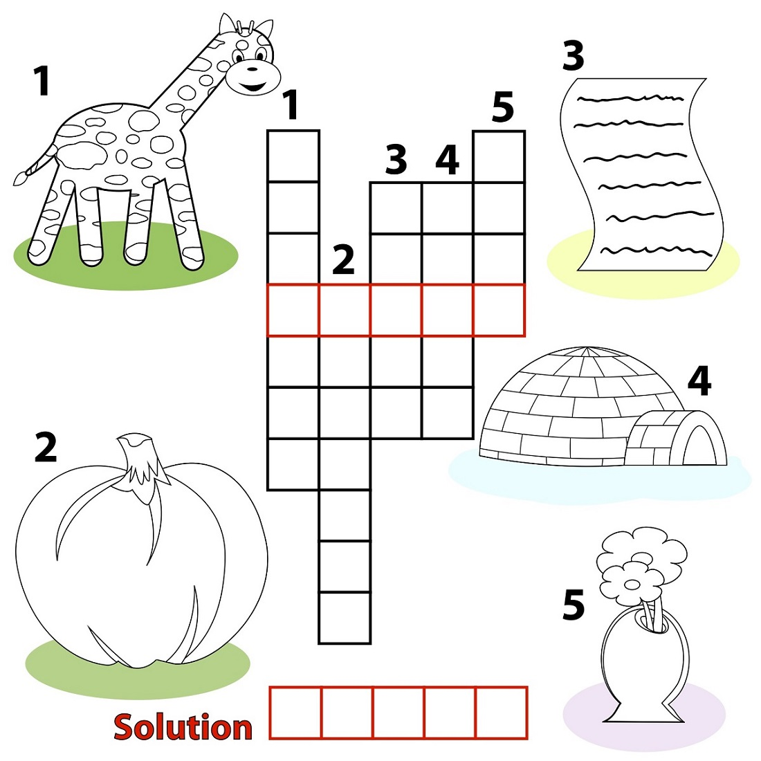 kids word puzzles for school
