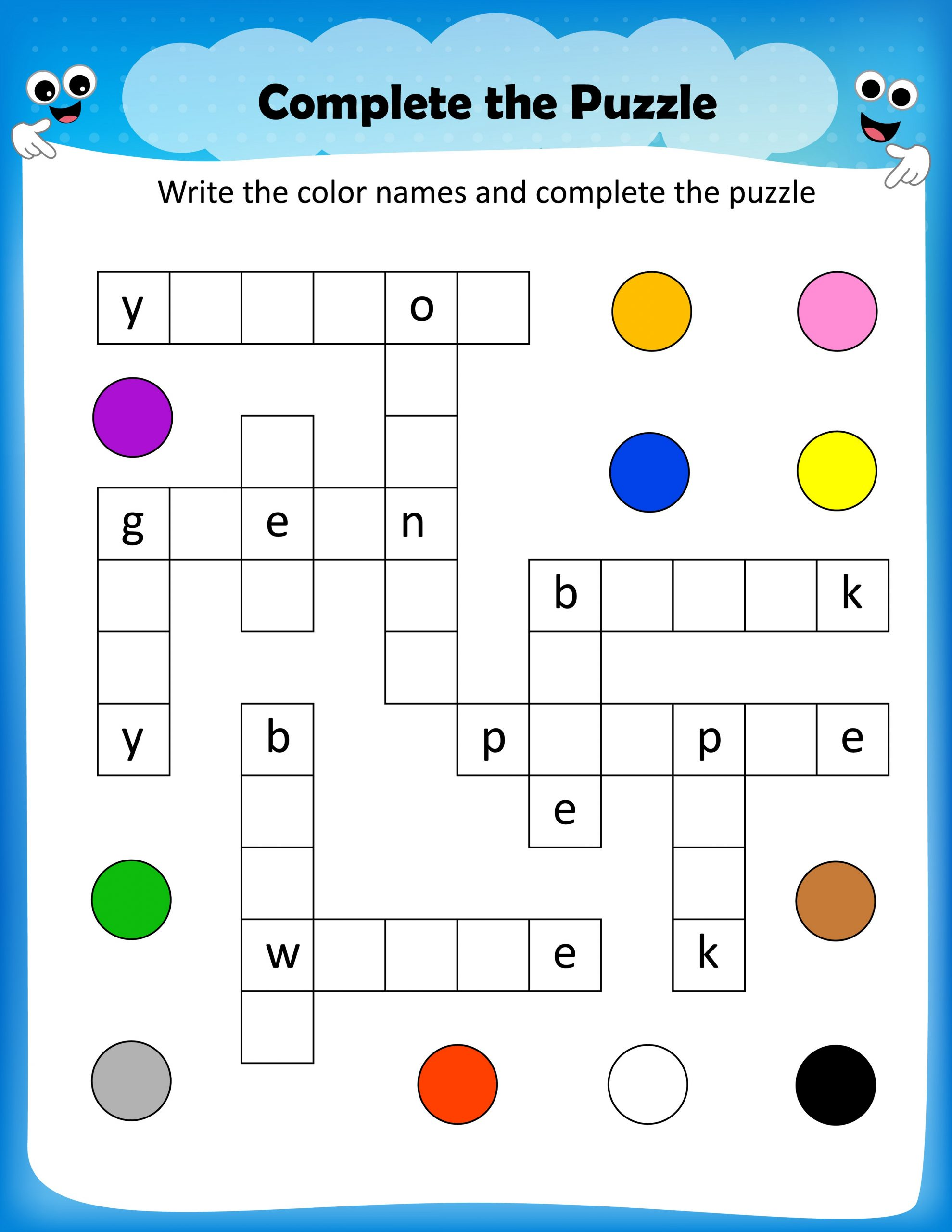 kids word puzzles