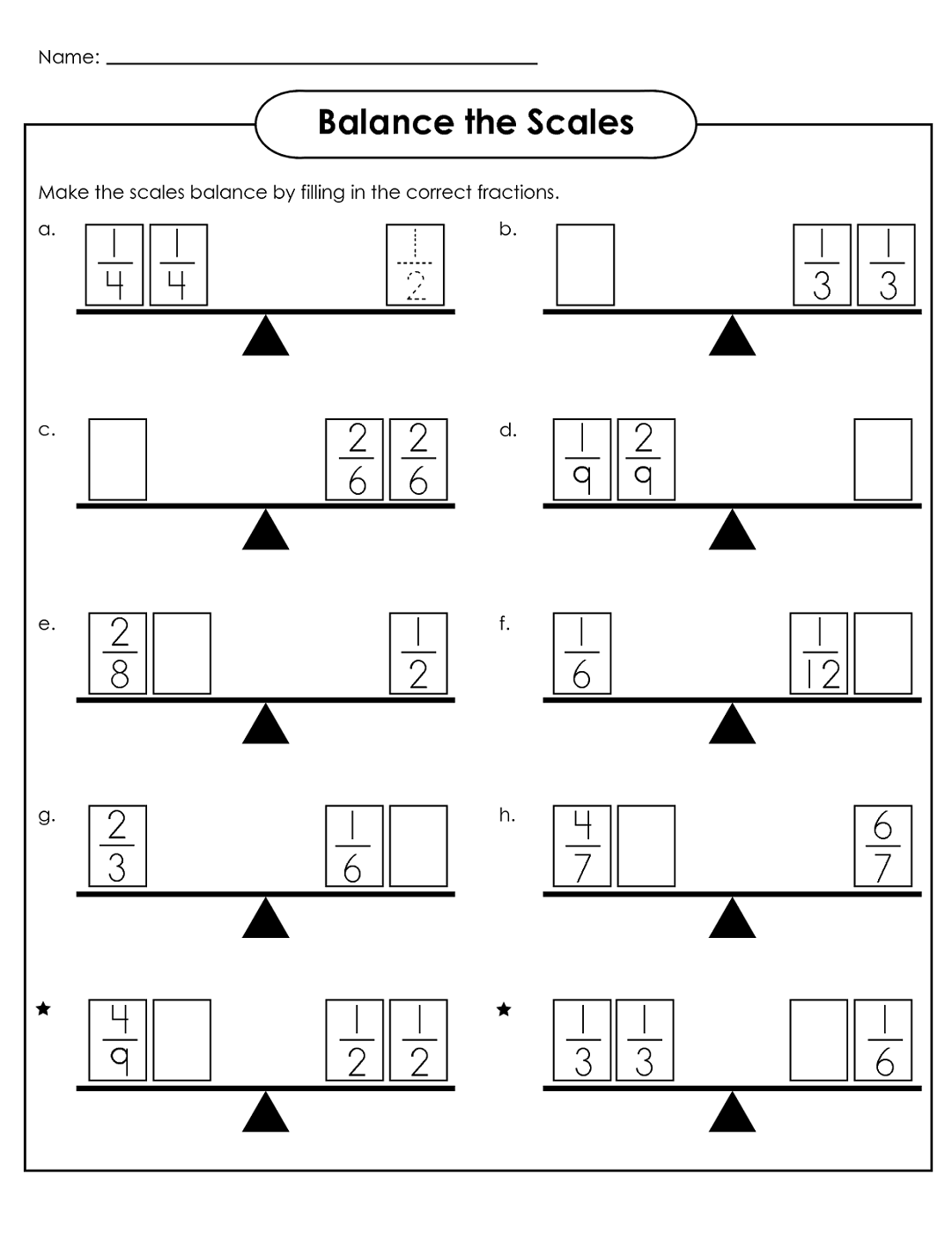 balance scale worksheet for kindergarten