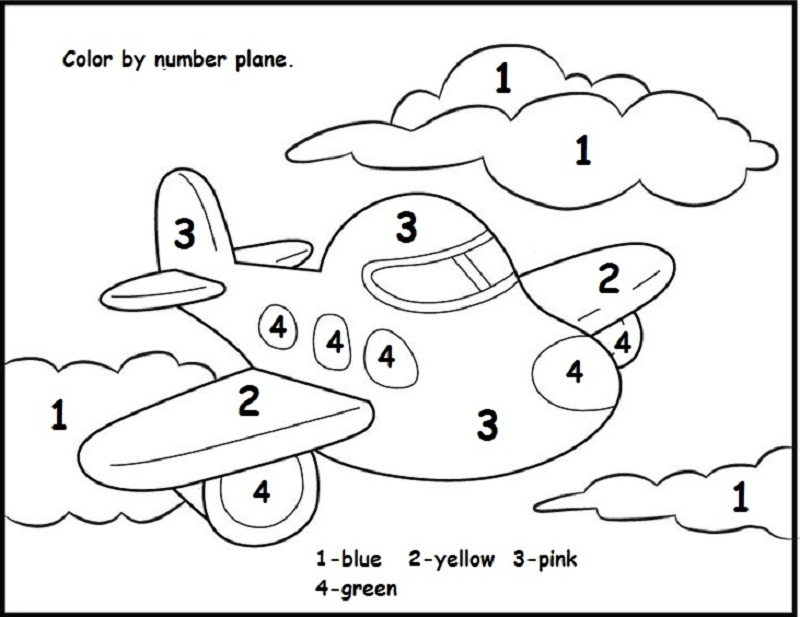 color by number worksheets for preschool