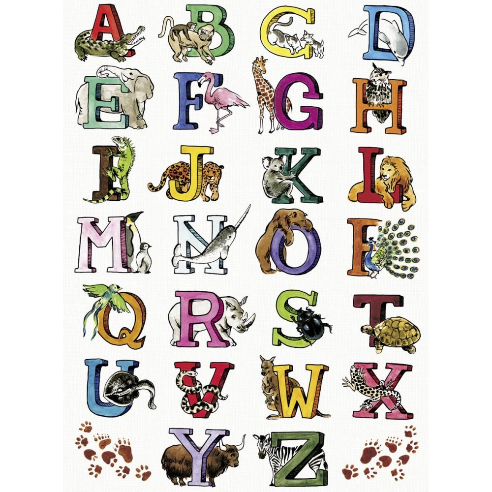 animal shaped letters alphabet