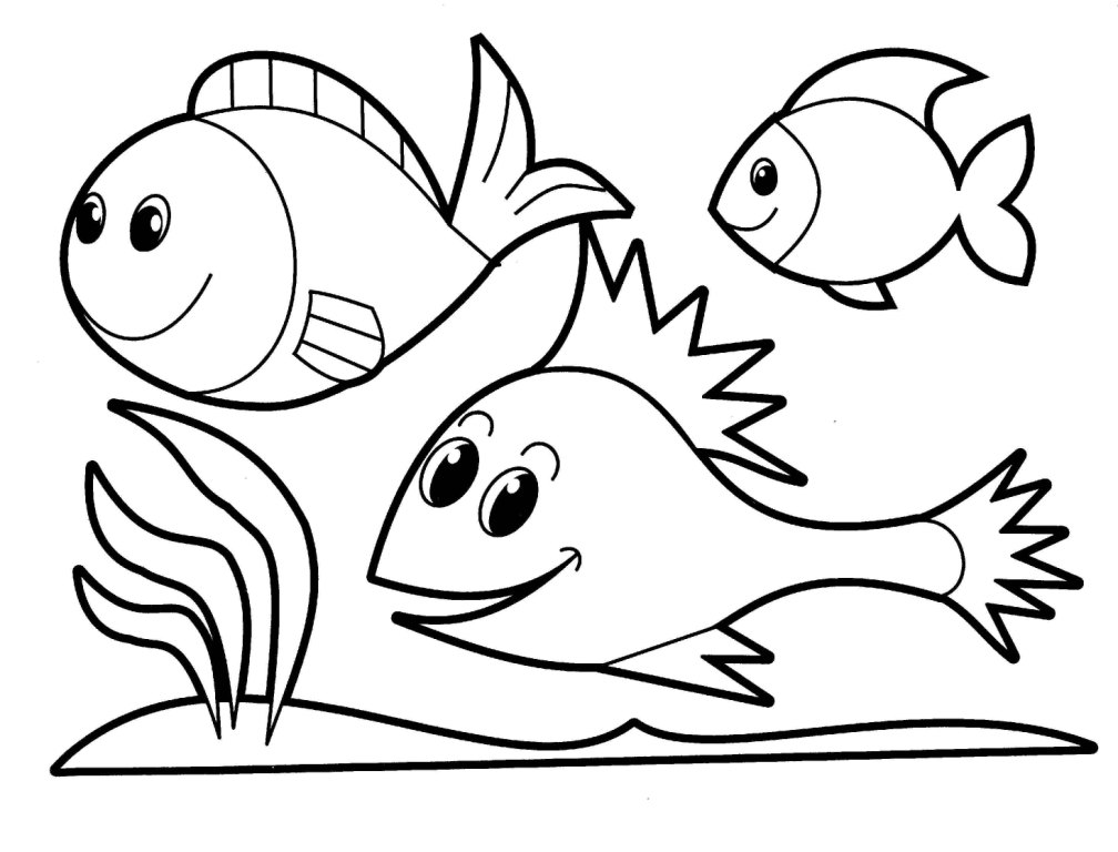 easy animal coloring pages for kids