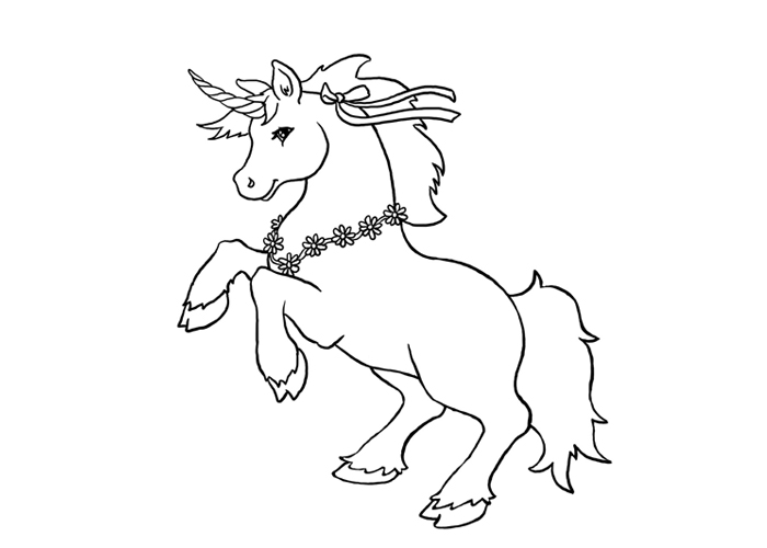 easy unicorn coloring pages activity