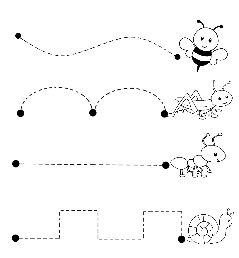 line tracing sheets for toddlers