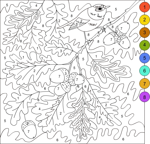 printable paint by numbers for kids