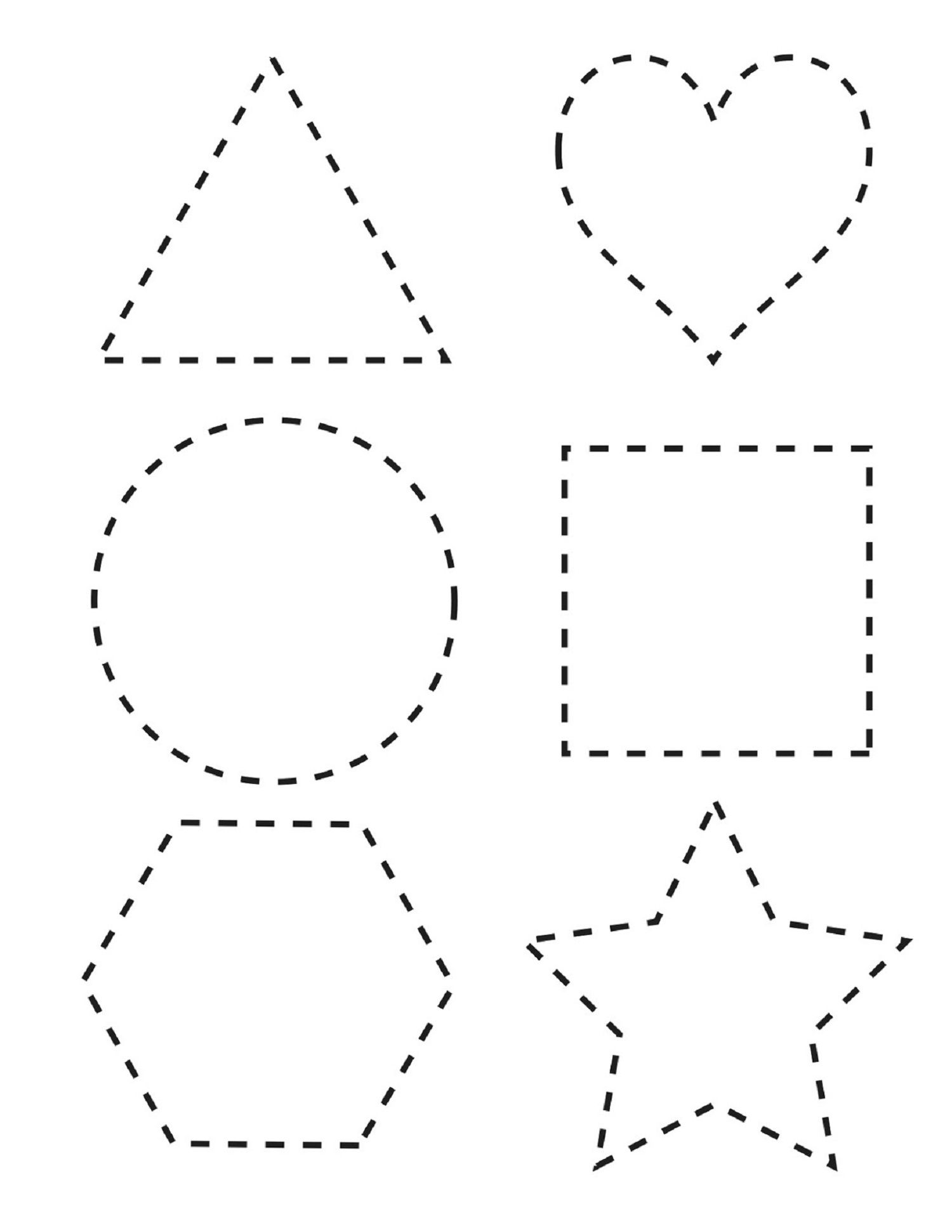 shape tracing sheets for toddlers
