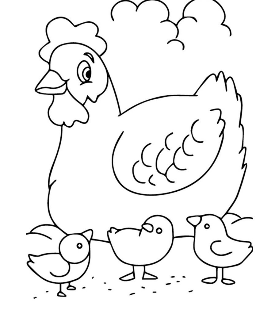 simple and easy animal coloring pages