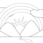 beautiful rainbow printable coloring pages