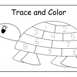 color and tracing sheets for preschoolers