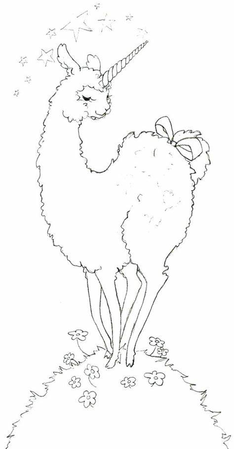 cute and beautiful llama coloring pages