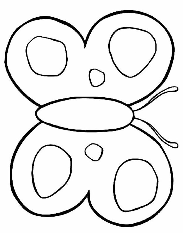 cute butterfly coloring pages for preschool