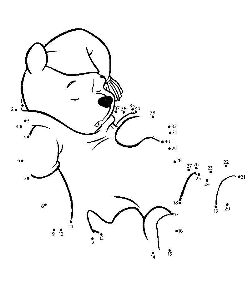 easy connect the dots winnie the pooh