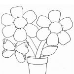 easy flower coloring pages for kids