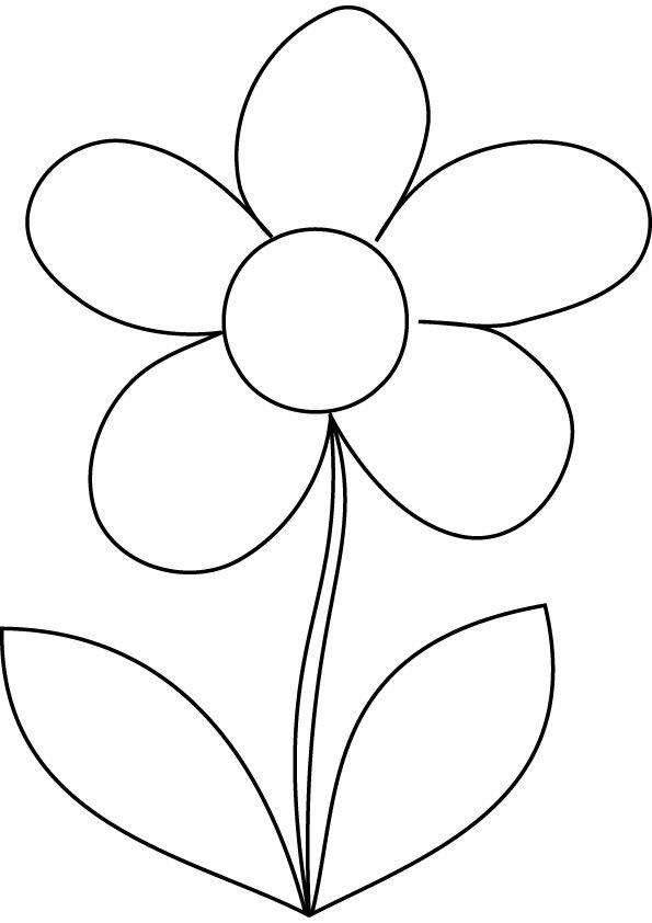 easy flower coloring pages for toddlers