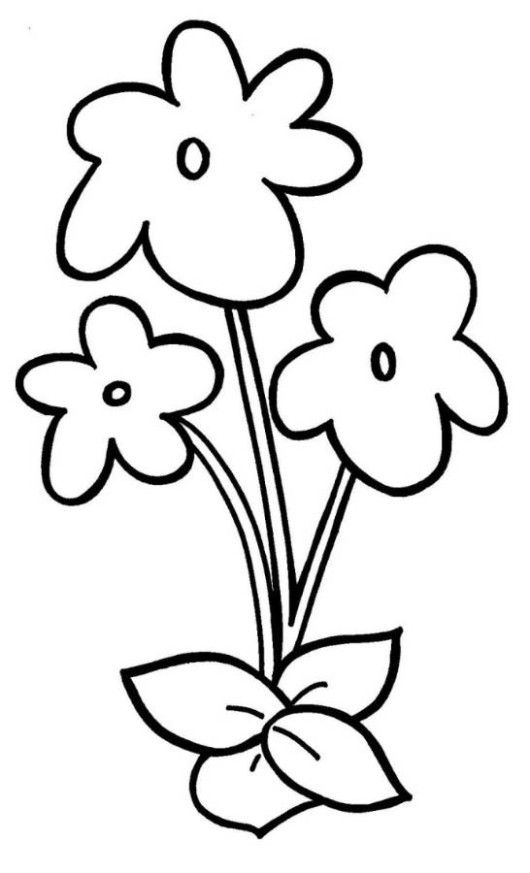 easy flower coloring pages worksheets
