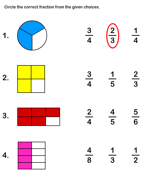 easy fractions for beginners worksheets