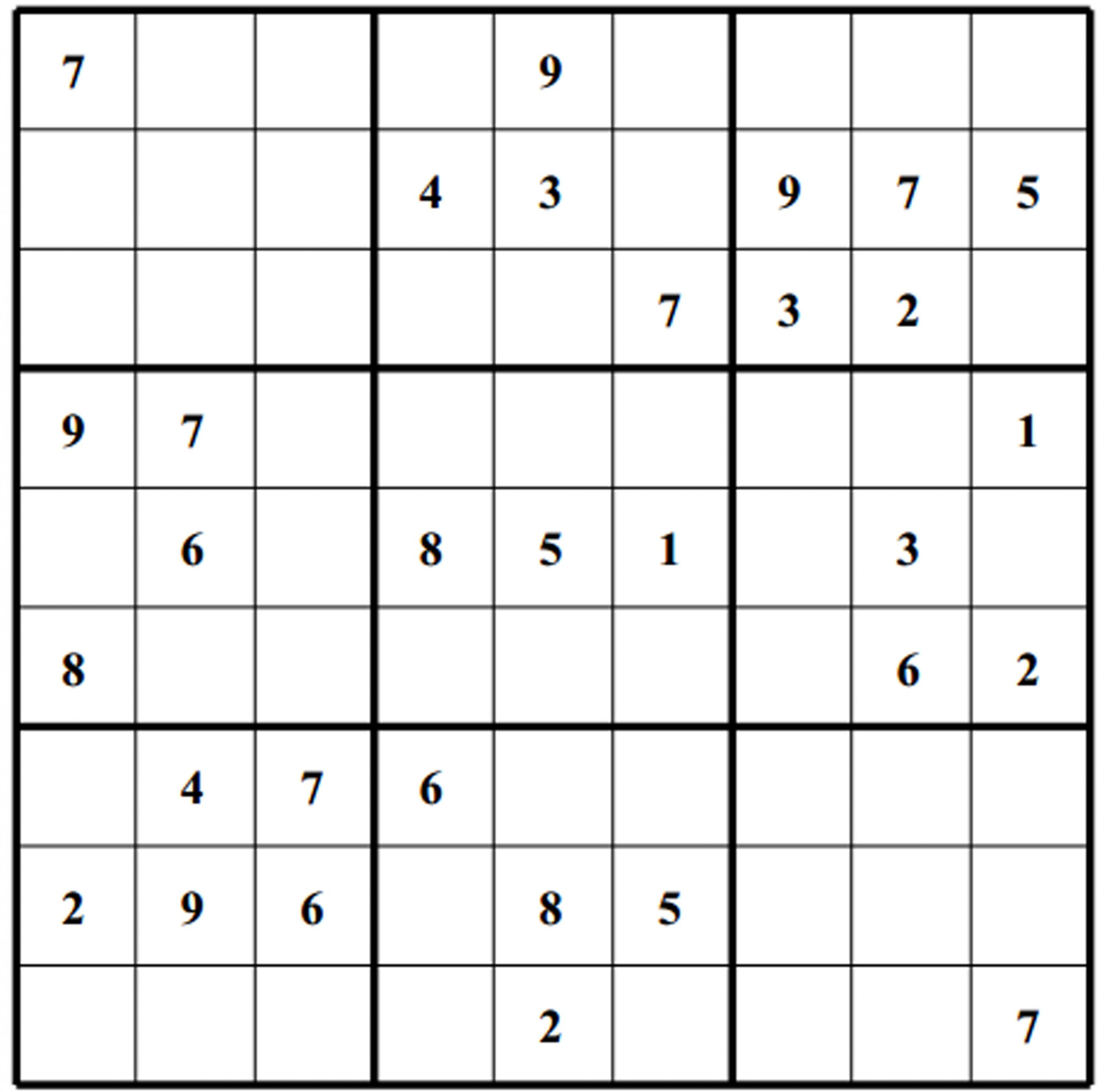 easy printable sudoku puzzles