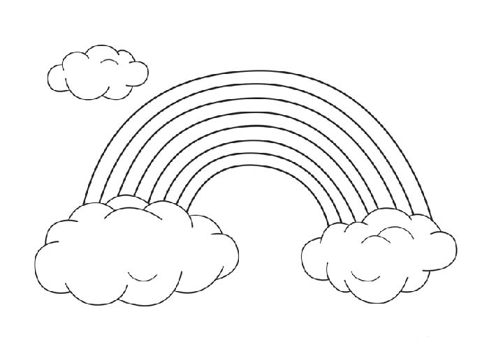 easy rainbow printable coloring pages
