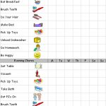 example of printable chore charts for kids