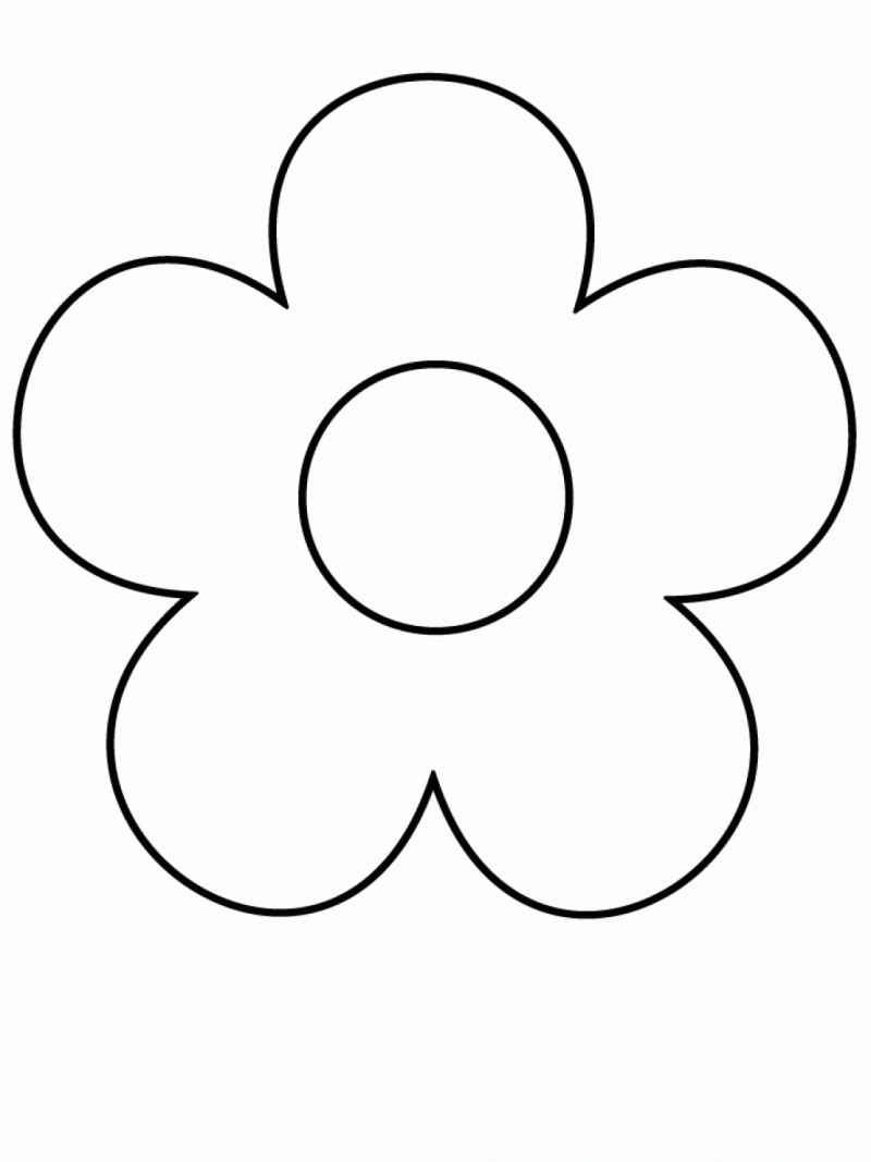 printable easy flower coloring pages