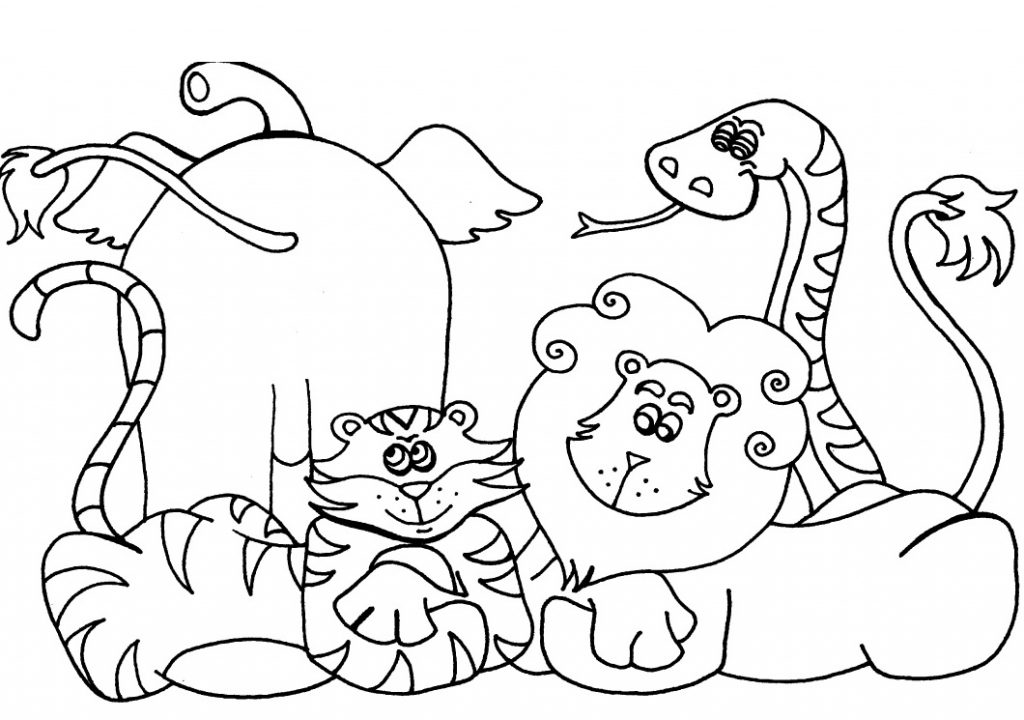 printable preschool animal coloring pages
