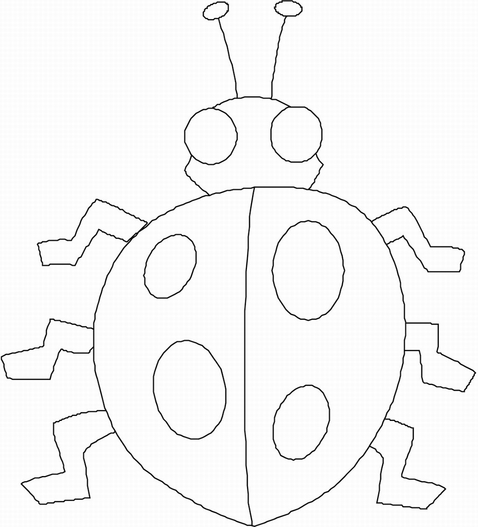 printable preschool bug coloring pages