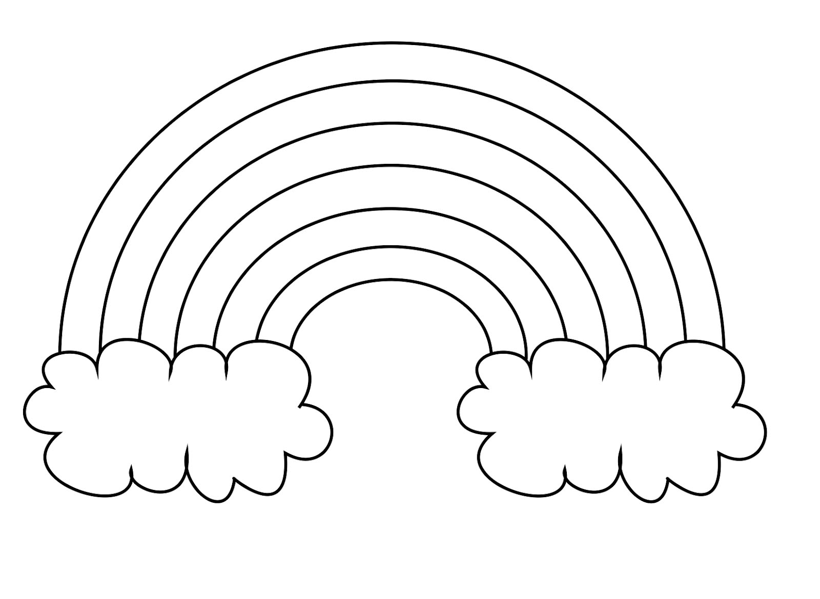 printable preschool rainbow coloring pages