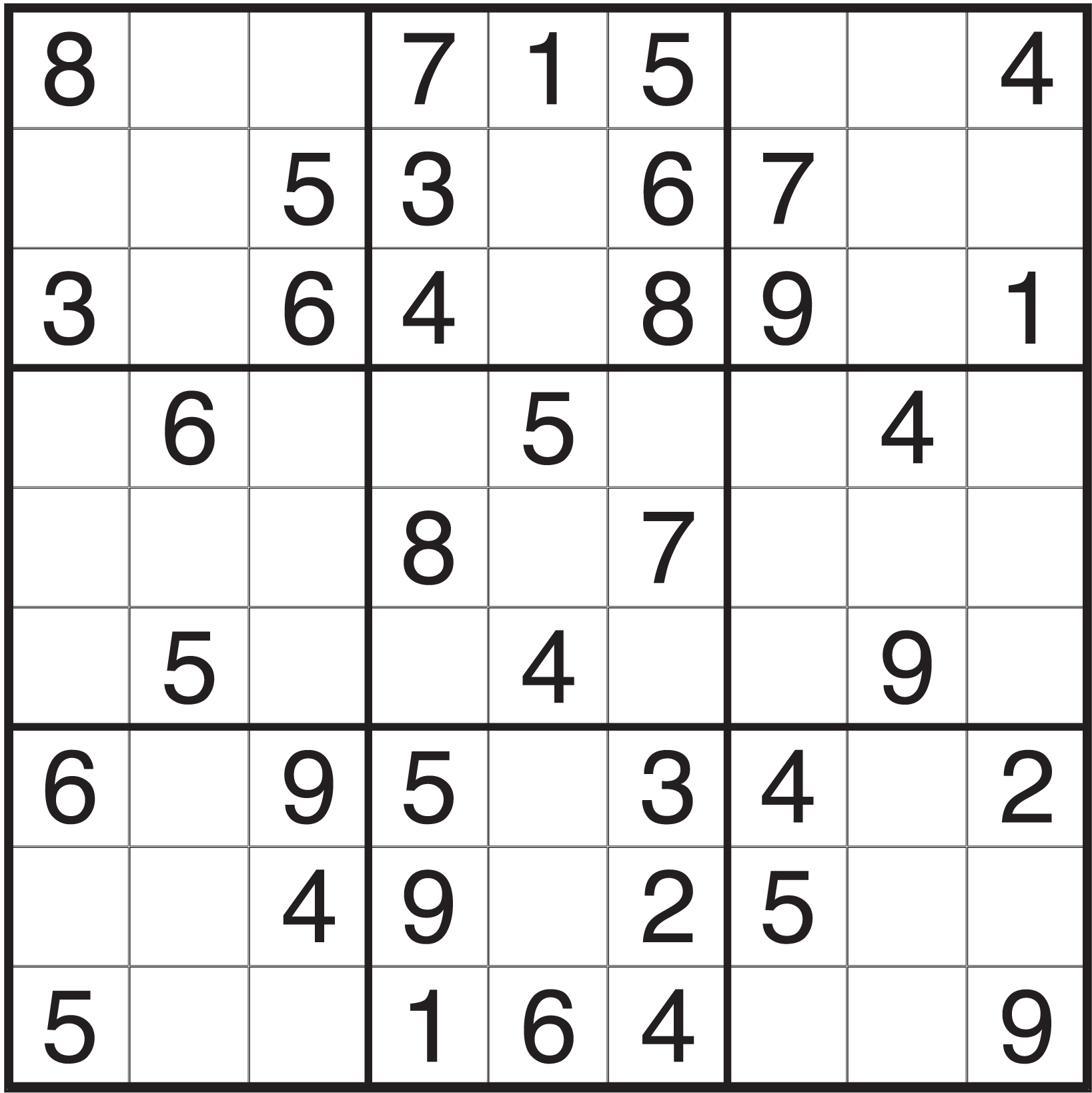 printable sudoku puzzles for fun