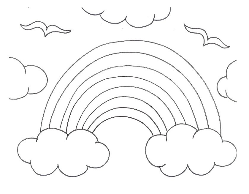 rainbow printable coloring pages for kids