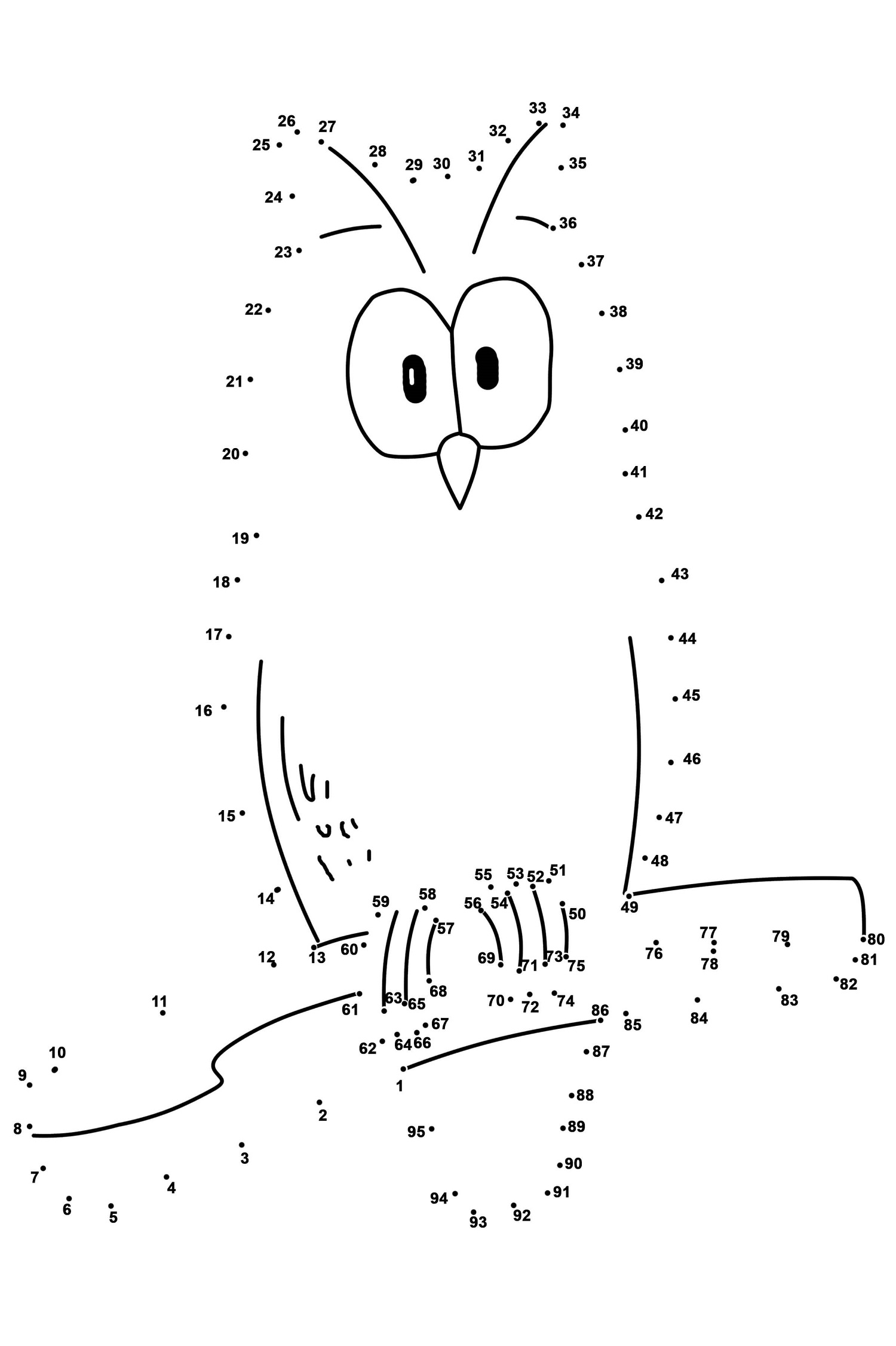 animal dot to dot worksheets for kindergarten