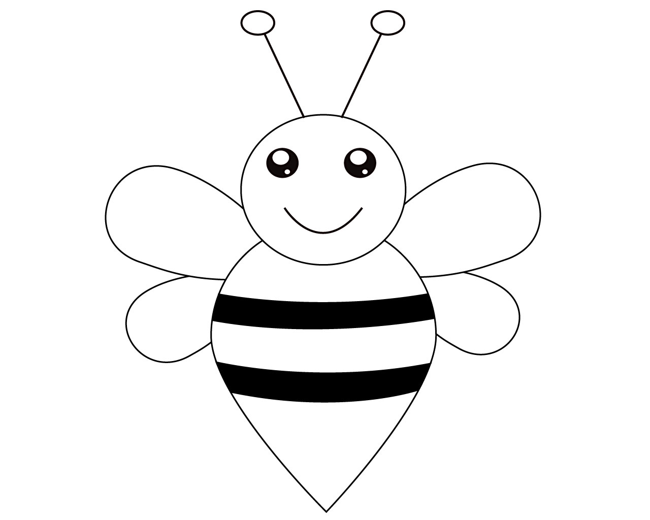 bee coloring worksheets for toddlers