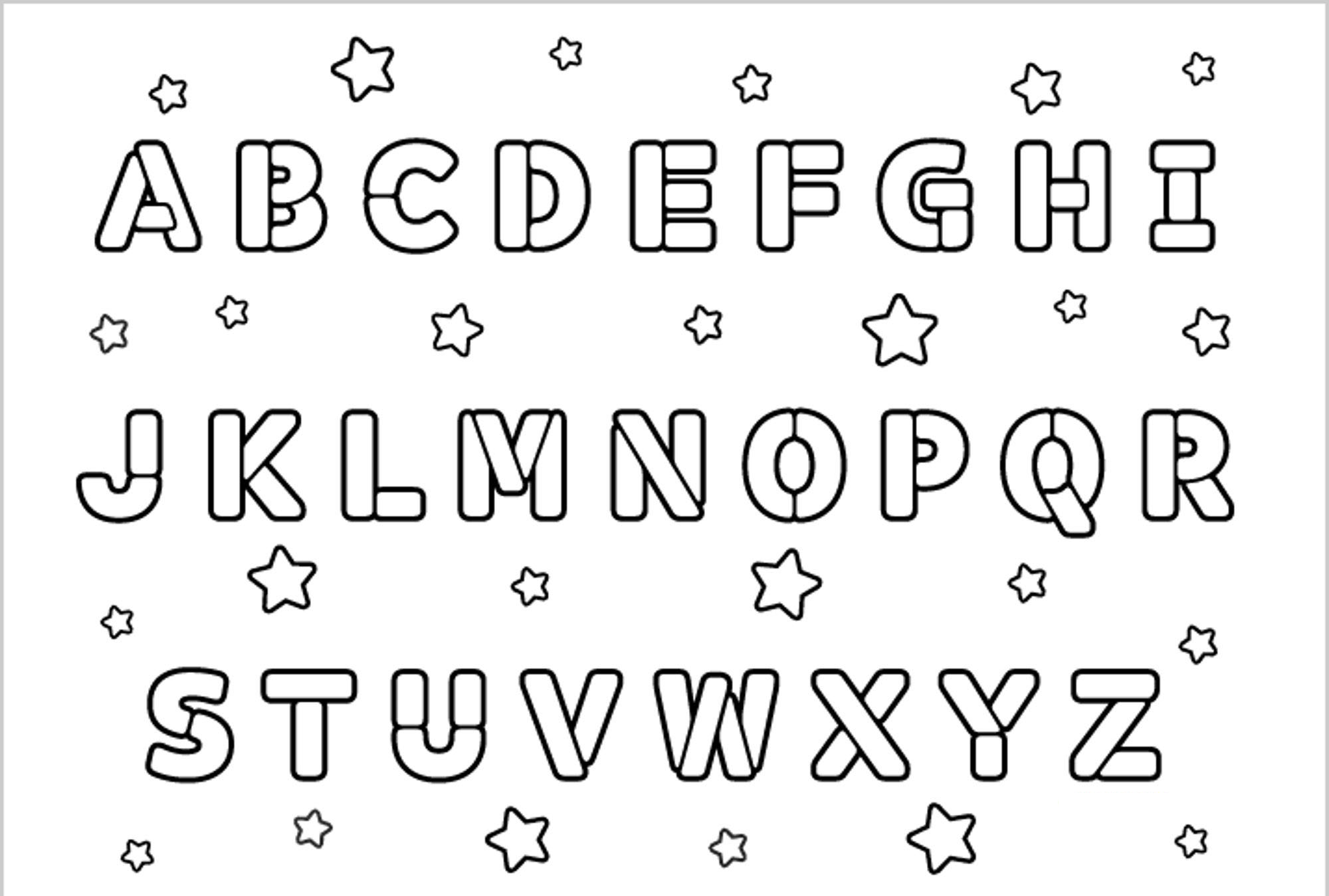 coloring alphabet worksheets for toddlers