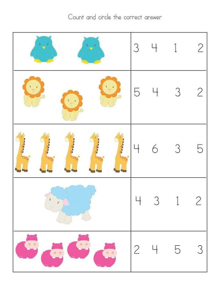 count and circle kindergarten math worksheets