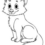 cute baby wolf coloring pages