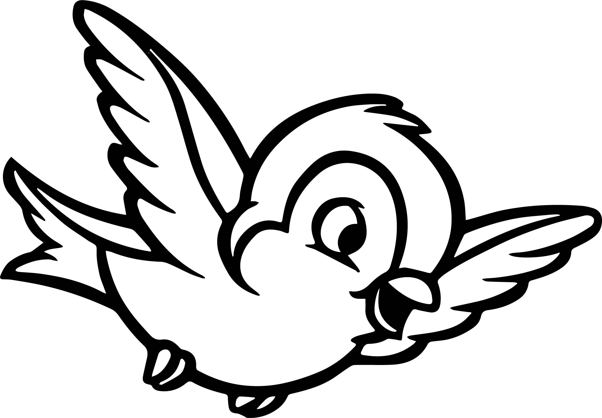 Flying Bird Coloring Pages - GetColoringPages.com | 1333x1920