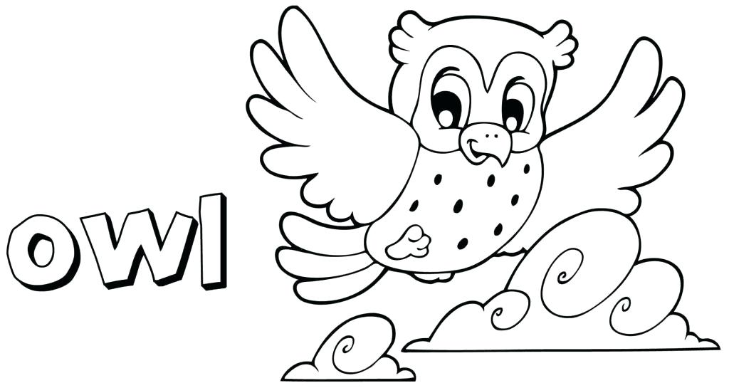 cute owl bird coloring pages