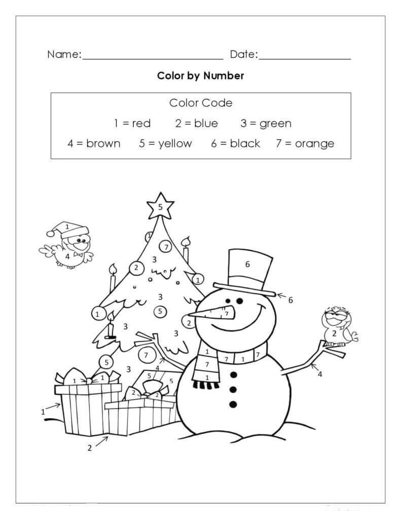 cute printable color by number worksheets