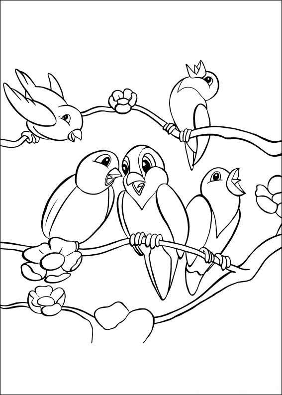 cute singing bird coloring pages
