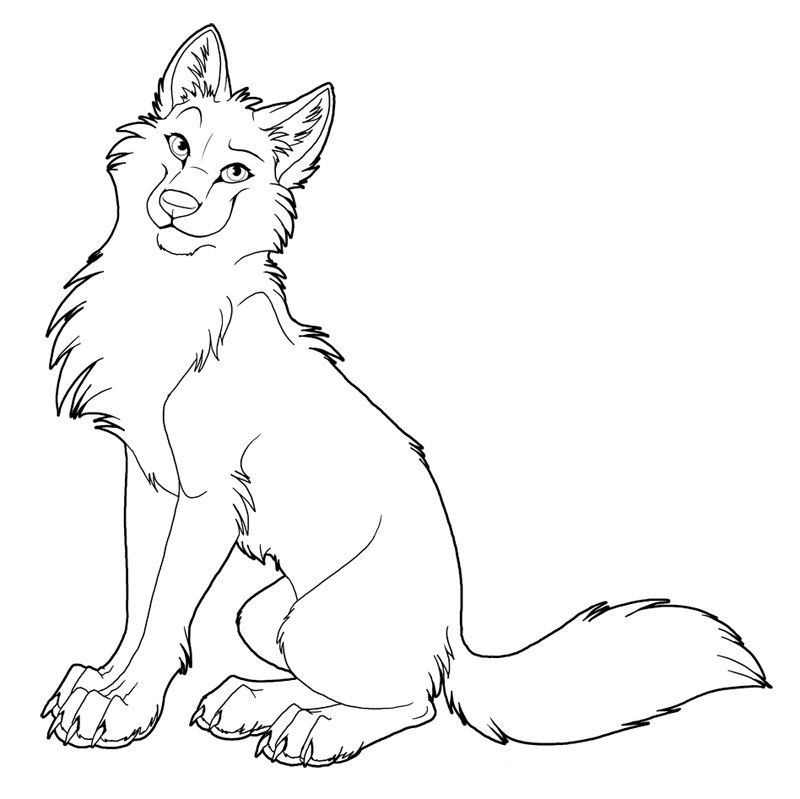 cute wolf coloring pages for kids