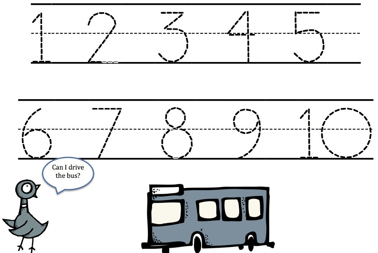 easy number tracing worksheets