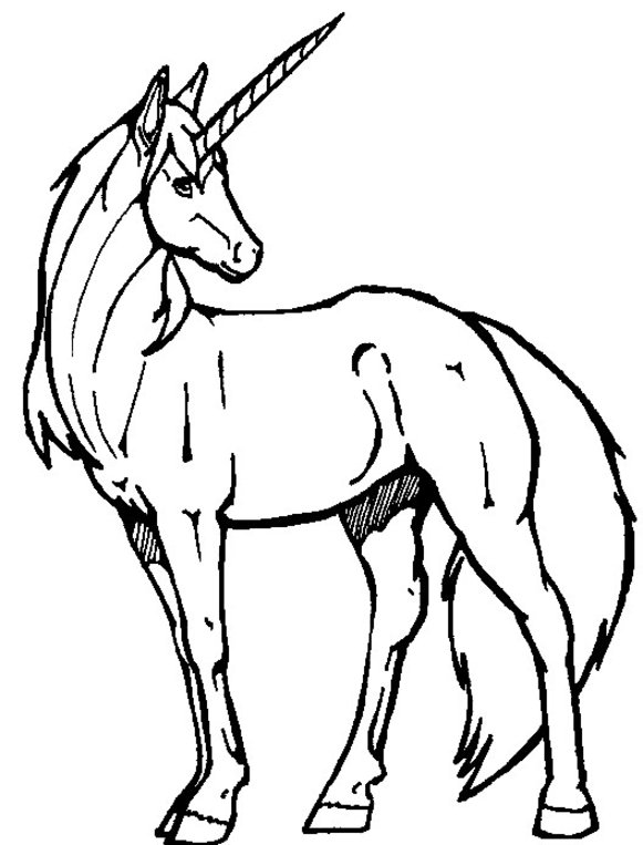 easy realistic unicorn coloring pages