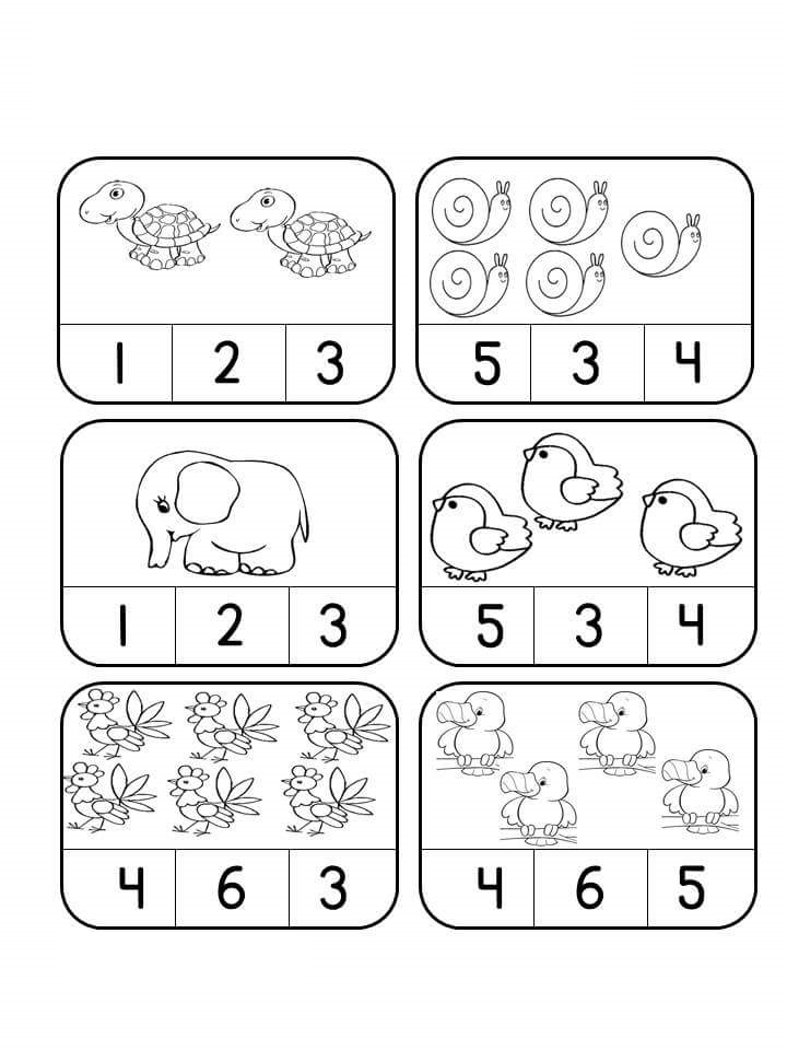 preschool counting worksheets activities