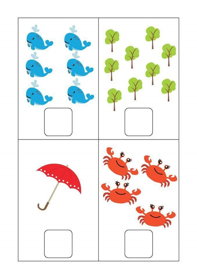 preschool counting worksheets for kids